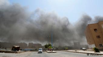 Smoke from air strike