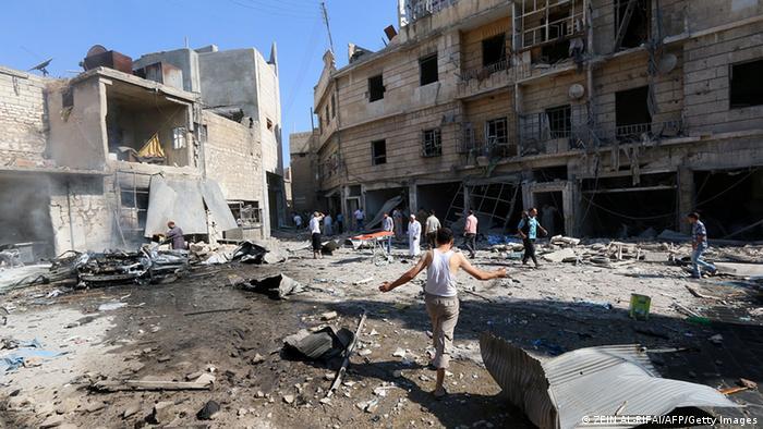 Devastation in the city of Aleppo