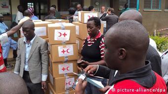 Ebola Bekämpfung in Uganda (Foto: EPA/STRINGER)