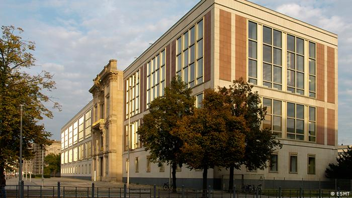 Outside view of the building of the European School of Management and Technology in Berlin