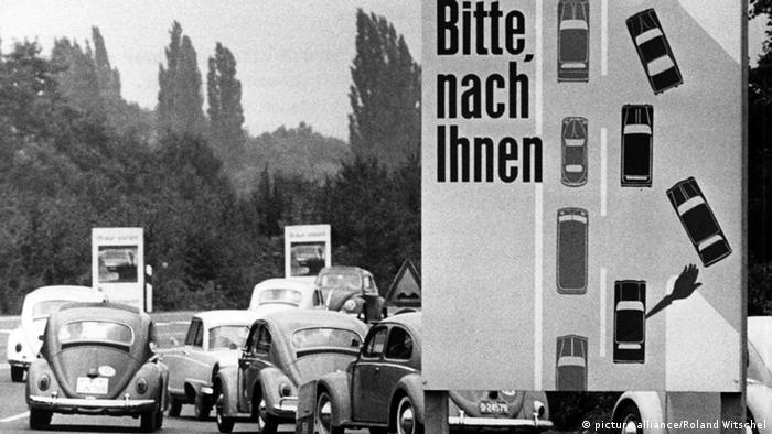 Já em 1965, o sistema de zíper funcionava nas rodovias alemãs