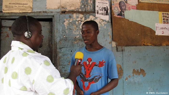 Jefferson Massa, Journalist von Radio Gbarnga/ Liberia