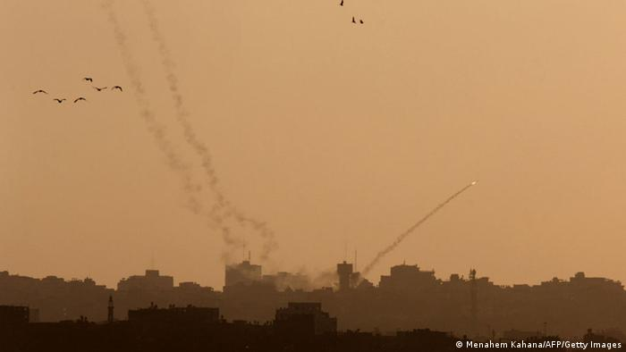 Raketenangriff aus Gaza auf Israel 20.08.2014