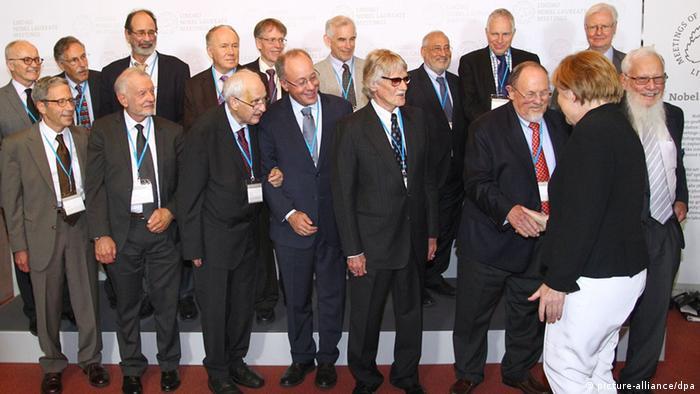 5. Lindauer Tagung der Wirtschaftswissenschaften Nobelpreisträger mit Merkel