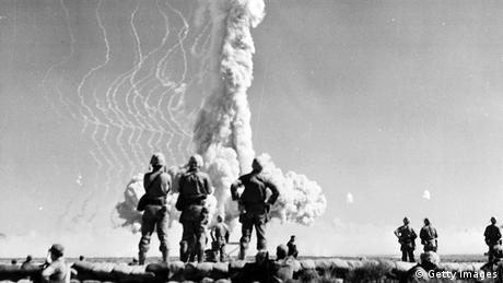 USA Atomtest in Nevada mit Zuschauern