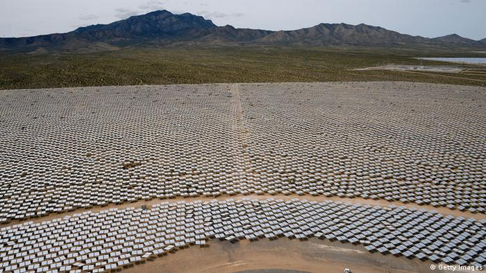 Concentrated solar park in Ivanpah, California