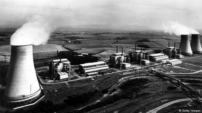 Sellafield, the world's first commercial nuclear power station, pictured in 1961