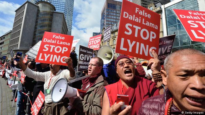 Shugden Buddhisten Protest gegen Dalai Lama