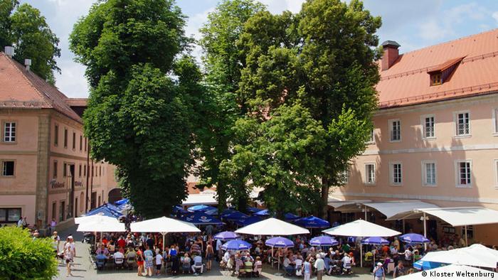 Biergarten im Kloster Weltenburg