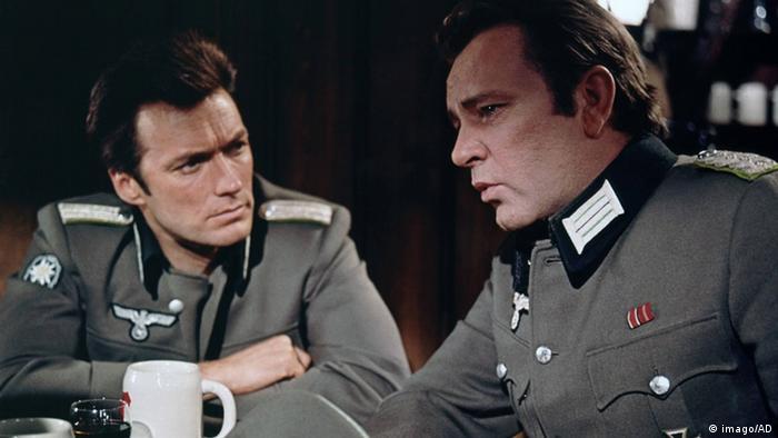 Eastwood and Richard Burton in uniforms