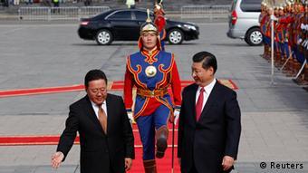 Mongolei China Präsident Xi Jinping bei Tsakhia Elbegdorj in Ulan Bator
