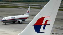 Malaysian Airline Flugzeug in Kuala Lumpur Archiv 2007