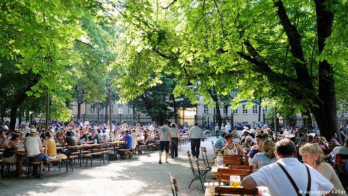 Deutschland, Augustinerbiergarten in München. (Foto: Augustiner Keller.)