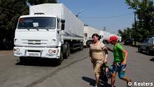 Russischer Konvoi fährt in die Ukraine 22.08.0214