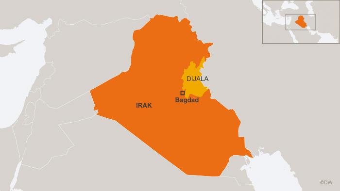 Irak-Karte mit der Provinz Dijala (DW)