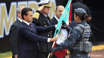 Mexiko Vereidigung neue Polizeitruppe