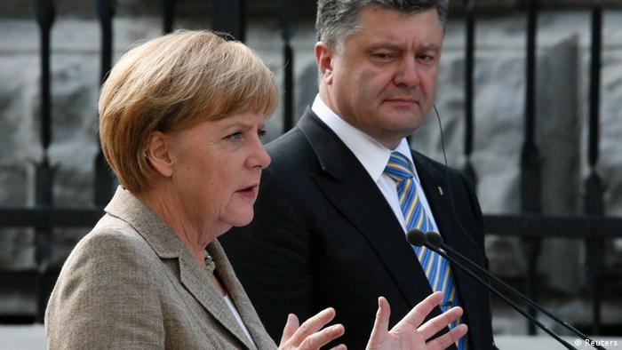 Angela Merkel mit Petro Poroschenko Besuch in der Ukraine 23.08.2014