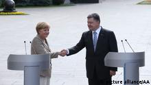 Angela Merkel in der Ukraine 23.08.2014