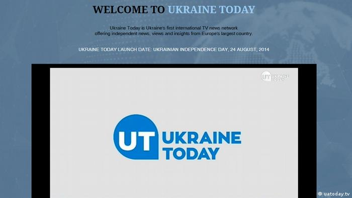 скриншот сайта Ukraine Today