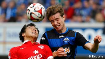 Paderborn competed against their experienced Bundesliga opponents