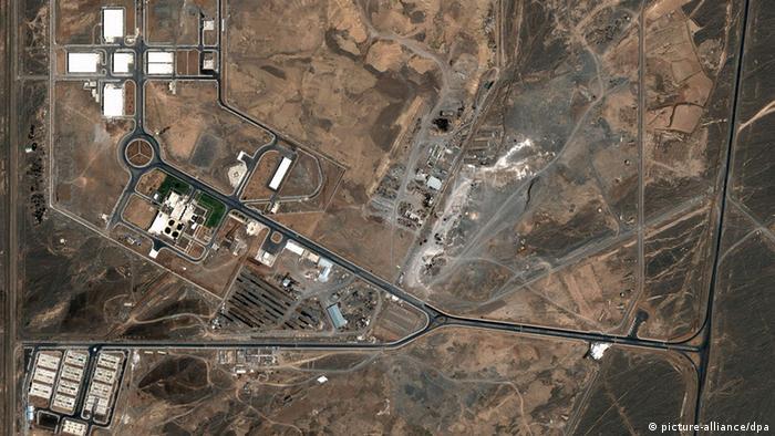 Iran Natans Atomanlage Luftbild