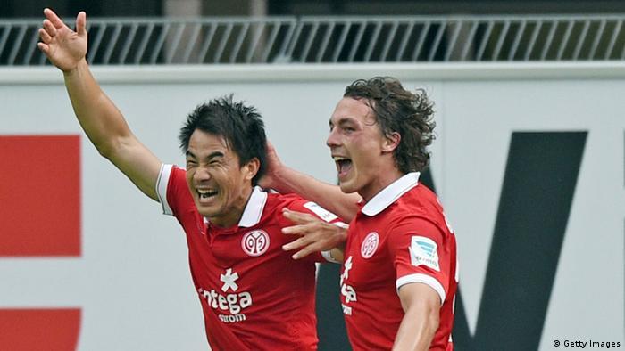 Okazaki celebrates opening goal