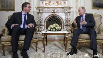 Vucic bei Putin 08.07.2014