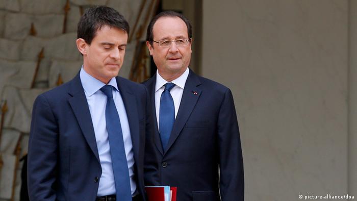 Hollande und Valls Archivbild 04.04.2014