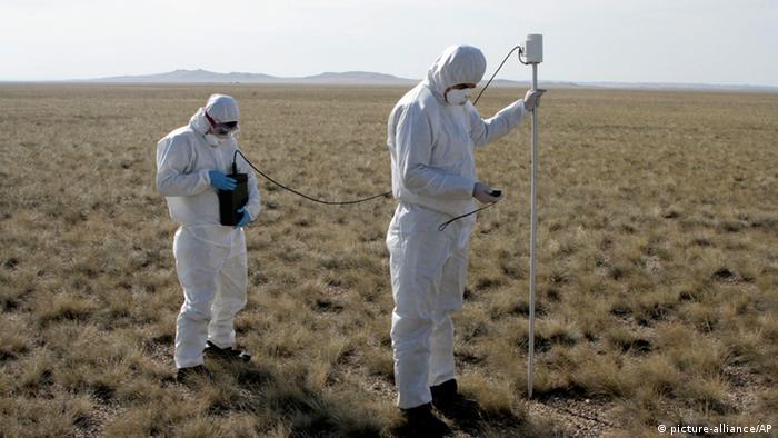 На ядерном полигоне в Семипалатинской области Казахстана