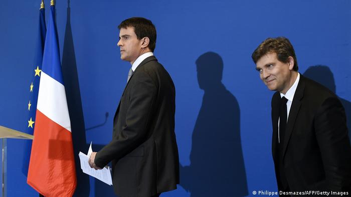 Valls and Montebourg Photo: PHILIPPE DESMAZES/AFP/Getty Images)