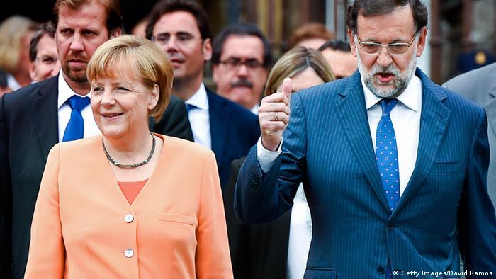 Merkel und Rajoy 25.08.2014 in Santiago de Compostela