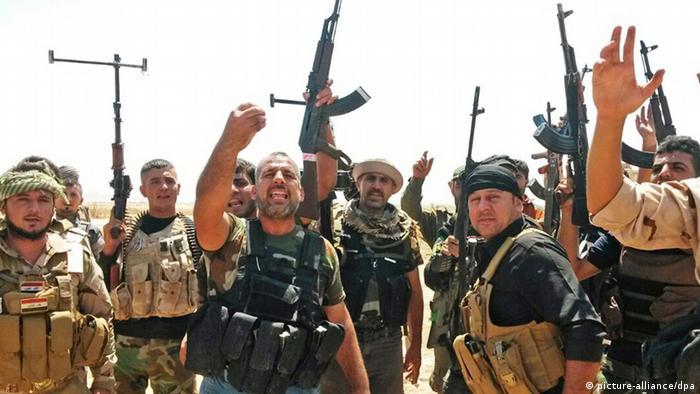 Бойцы курдских военнизированных формирований в Ираке
