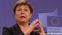 Belgien EU Irak Kristalina Georgieva EU-Kommissarin für Katastrophen und humanitäre Hilfe