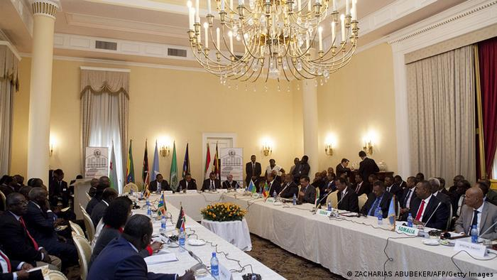 IGAD leader at a recent summit /AFP/Getty Images)