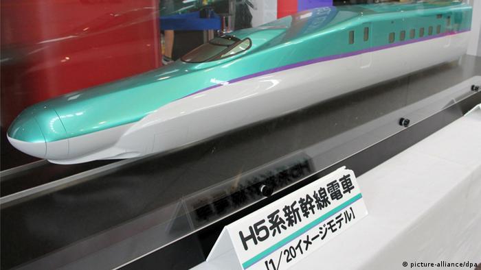 Shinkansen Zug Japan Modell 15.08.2014