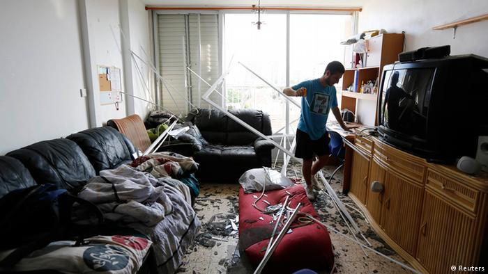 Israel Hamas Raketen Zerstörung 26.08.2014 Ashkelon