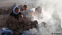 Flüchtlinge in Nordirak 23.08.2014 Sinjar