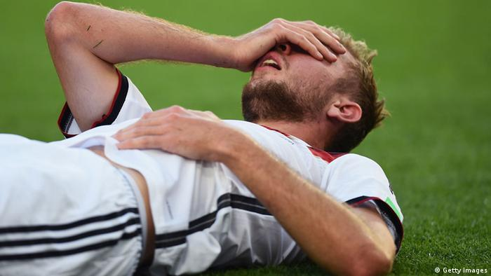Christoph Kramer after his injury at the World Cup final in Brazil