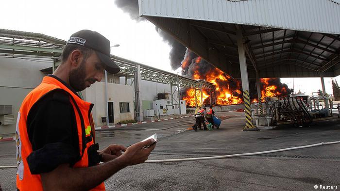 Bildergalerie Gaza Israel Elektrizitätswerk Zerstörung in Gaza