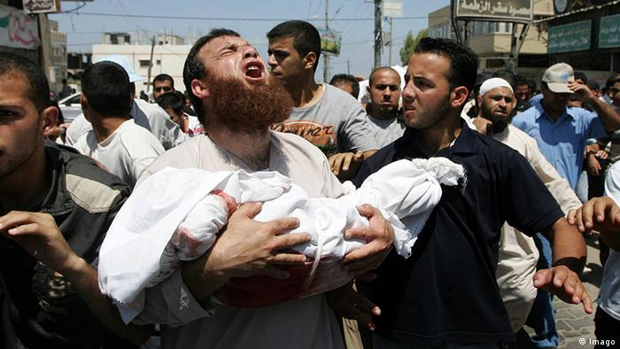 Gaza Beerdigung Trauer Kind Malek Shaat