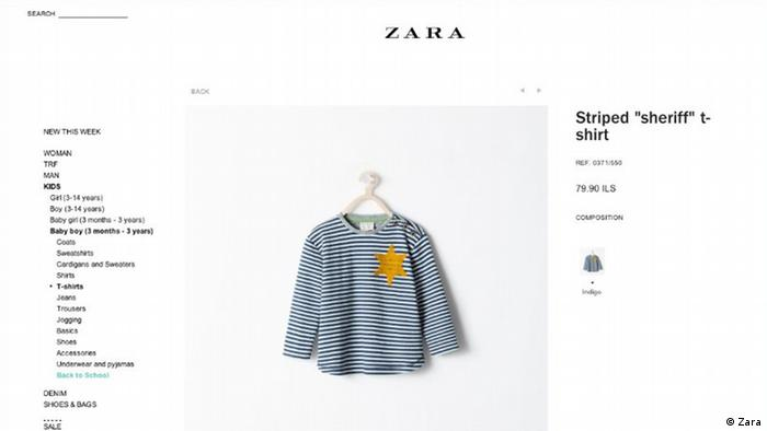 Highstreet giant Zara pulls ′Holocaust′ shirt | News | DW | 27 08 2014