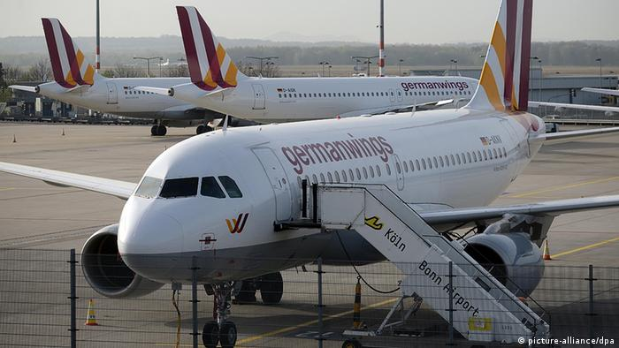 Germanwings aircraft at Köln Bonn airport