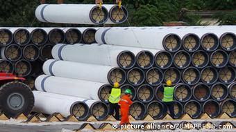 Трубы в порту Варна для Южного потока