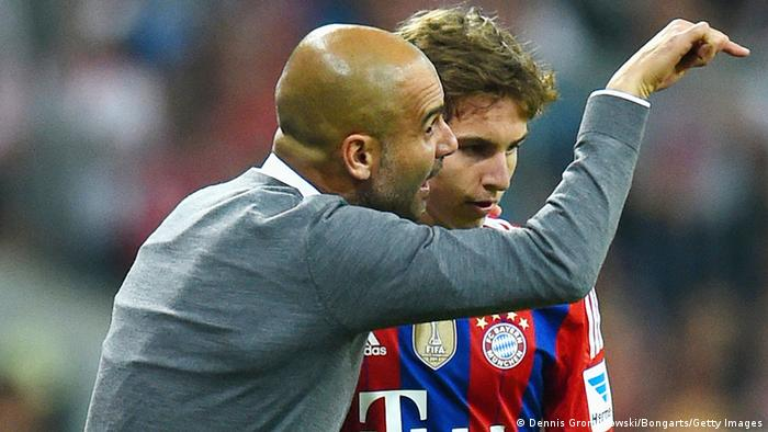 Gianluca Gaudino with Josep Guardiola
