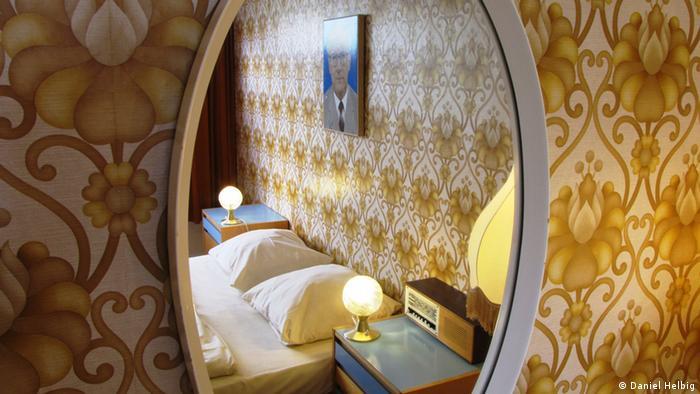 Один из номеров в берлинской гостинице Ostel