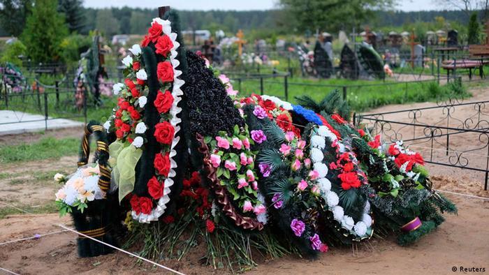 Предположительно могила российского солдата, погибшего в Донбассе (Выбуты, Псков)