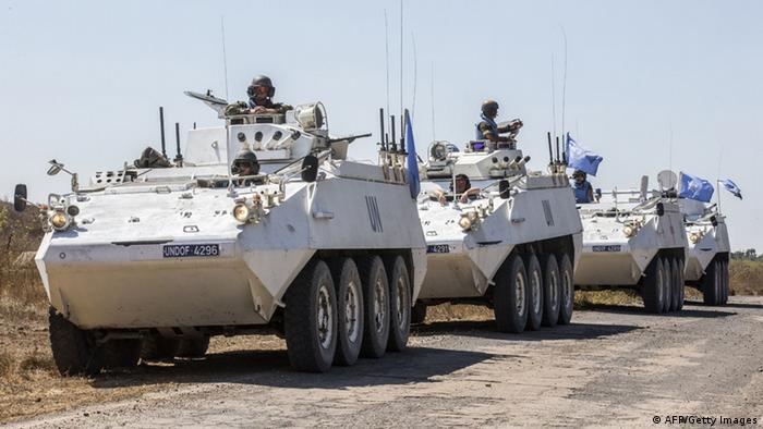 UN-Truppen am Grenzübergang zwischen Israel und Syrien (Foto: Getty Images)
