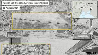 NATO satellite photo of Russian troops in Ukraine