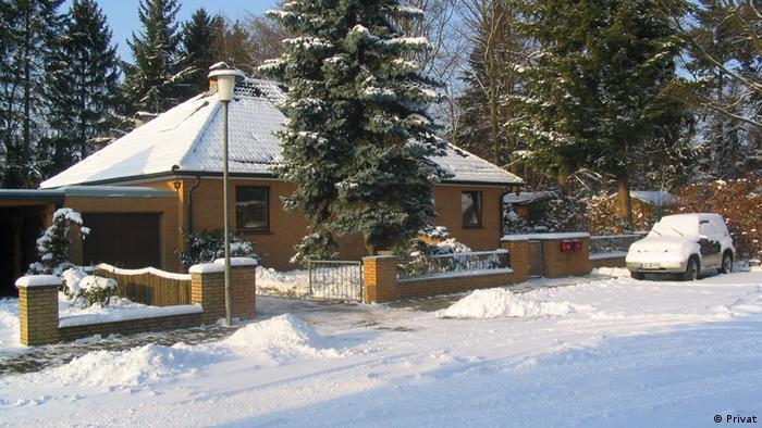 Das Wohnhaus von Hans-Jürgen Bennecke im Winter (Foto: privat)
