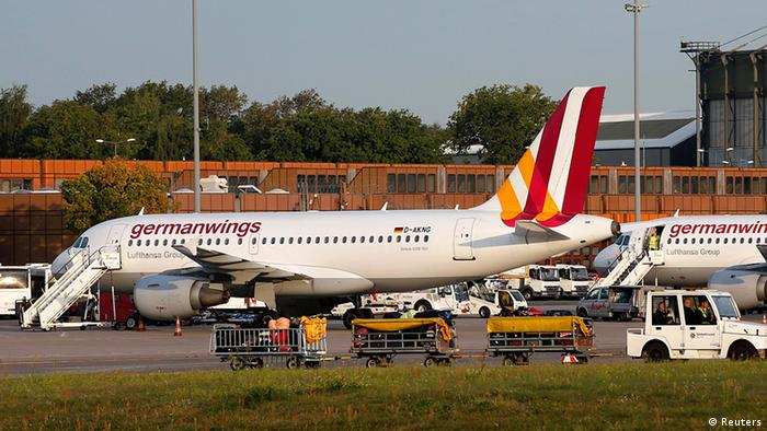 German airline Lufthansa's low-cost carrier Germanwings aircraft are pictured on the tarmac at Berlin Tegel airport August 29, 2014. REUTERS/Fabrizio Bensch